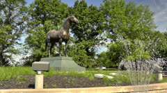 Monument to Man O War. Kentucky Horse Park Stock Footage