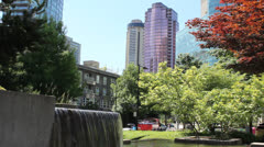 Vancouver British Columbia Waterfall City Park Stock Footage