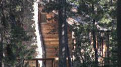 secluded mountain cabin - stock footage