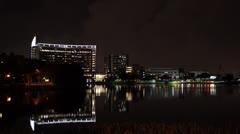 Florida Hospital Night Stock Footage