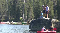 Old swimming hole, Wrights lake Stock Footage