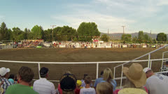 Rodeo Bareback Bronco horse ride winner HD 024 Stock Footage