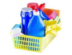 cleaners in the basket - stock photo