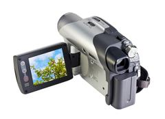 Digital video camera with a landscape screen Stock Photos
