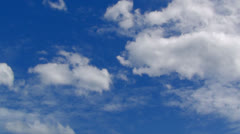 cloud with blue sky-speed 01 - stock footage