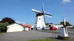 Flour mill on the island Bornholm, Denmark Stock Footage