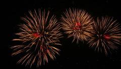 Artistic fireworks. - stock footage