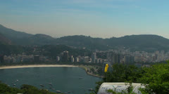 Panning on Urca in Rio de Janeiro Stock Footage