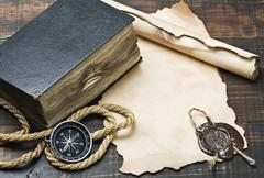 old things of the seaman - stock photo