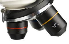 Lens of the microscope Stock Photos