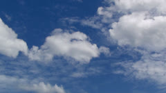 Cloud with blue sky-01 Stock Footage