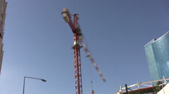 Crane with boom turning - stock footage