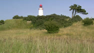 Stock Video Footage of Old Lighthouse on Hiddensee Island - Baltic Sea, Northern Germany