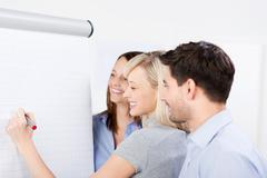 Business team planning a strategy Stock Photos