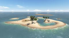 Paradise Island Stock Illustration