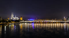 Cologne lights 2013 25mbps.mp4 Stock Footage
