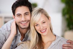 loving attractive young couple - stock photo