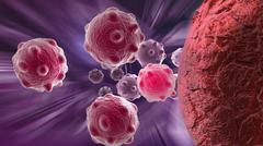 cancer cell - stock illustration