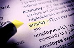 employ word - stock photo