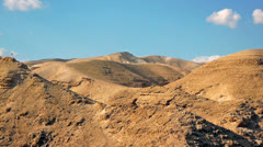 Judean desert panoramic view - stock footage