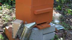 Bee Smoker Stock Footage