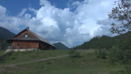 Stock Video Footage of Wooden farmhouse in the mountains.Romania