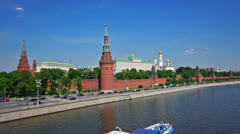 Moscow Kremlin classic view Stock Footage