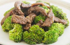 beef broccoli - stock photo