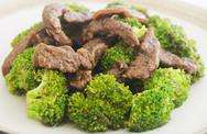 Stock Photo of beef broccoli