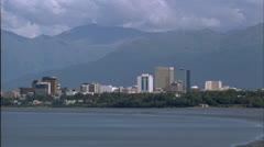 Anchorage Alaska Time lapse Stock Footage