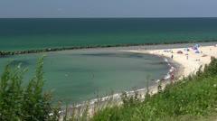 Beautiful Beach in Ahrenshoop - Baltic Sea, Northern Germany Stock Footage