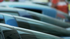 Car Detail 1 roofs - stock footage