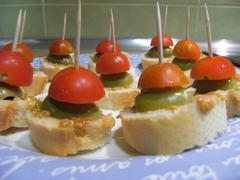 Spanish appetizers, tapas, snacs Stock Photos