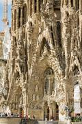 Stock Photo of architecture detail of the sagrada familia cathedral, designed by antoni gaud