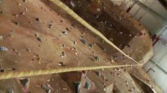 Climbing Wall 3 Stock Footage