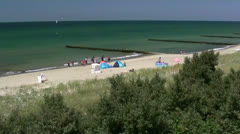 Beautiful Beach on Darss Peninsula - Baltic Sea, Northern Germany Stock Footage