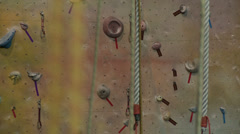 Climbing Wall 2 Stock Footage