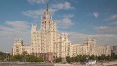 Building on Kotelnicheskaya Naberezhnaya hyperlapse Stock Footage
