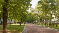 Walk on Pokrovka Boulevard Stock Footage