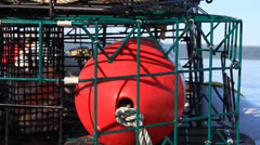 Crab Pot Buoy Stock Footage