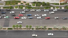 Traffic on Las Vegas Boulevard Stock Footage