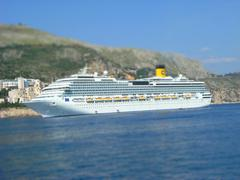 cruise ship thilt shift - stock photo