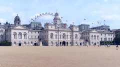 Horse Guards Parade, London. Stock Footage