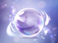 Glossy sphere Stock Illustration