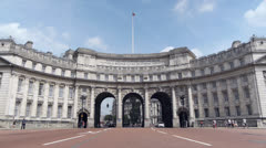 Admiralty Arch, London. Stock Footage
