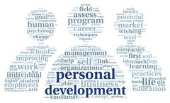 personal development in tag cloud - stock illustration
