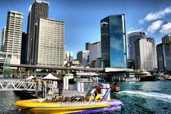 Boat in Sydney Harbour - stock photo