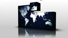 06 business graphs cubes Stock Footage