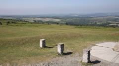 Dartmoor national park from view point Higher Godsworthy near Tavistock Stock Footage