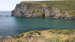 Crackington Haven beach North Cornwall between Bude and Tintagel Stock Footage
